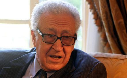 Lakhdar Brahimi, EPA/KHALED ELFIQI