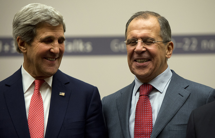 US Secretary of State John Kerry and Russia's Foreign Minister Sergei Lavrov