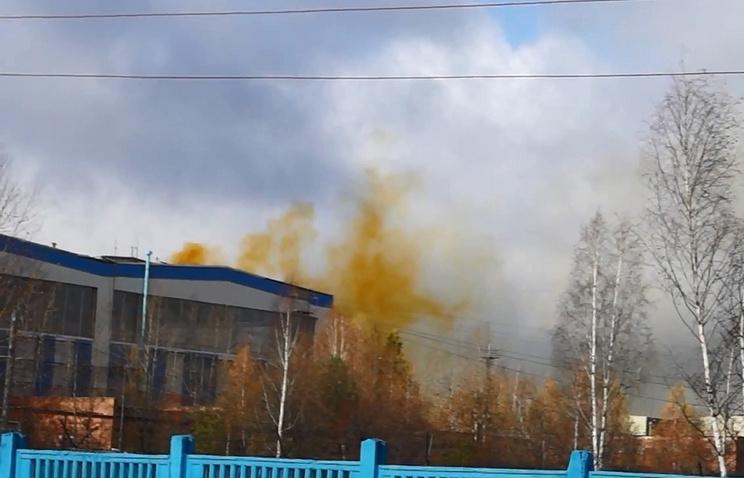 Утечка азотной кислоты в одном из цехов ВСМПО-АВИСМА 14 октября 2013 года