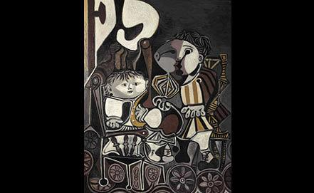 """Картина """"Клод и Палома"""" Пабло Пикассо. picassolive.ru"""
