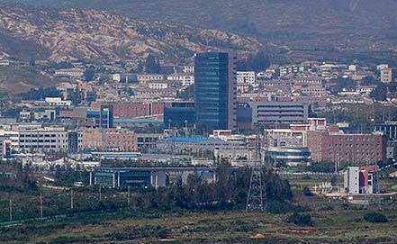 Индустриальный комплекс Кэсон. AP Photo/Lee Jin-man