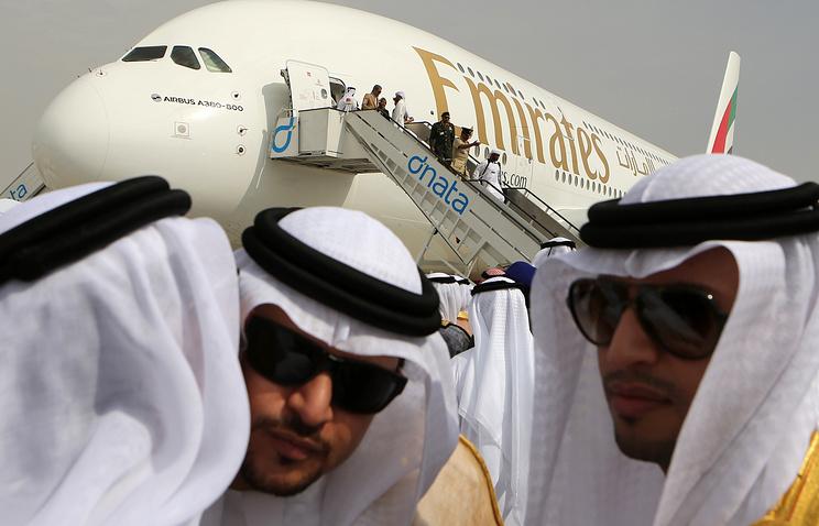 Открытие 13-го международного авиасалона в Дубае