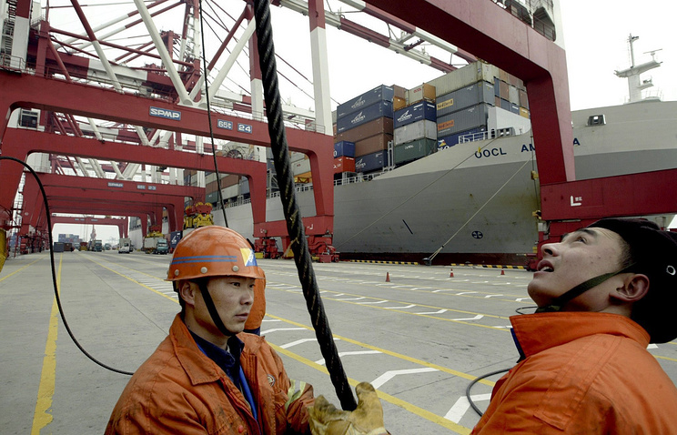 Порт в китайской провинции Шаньдун