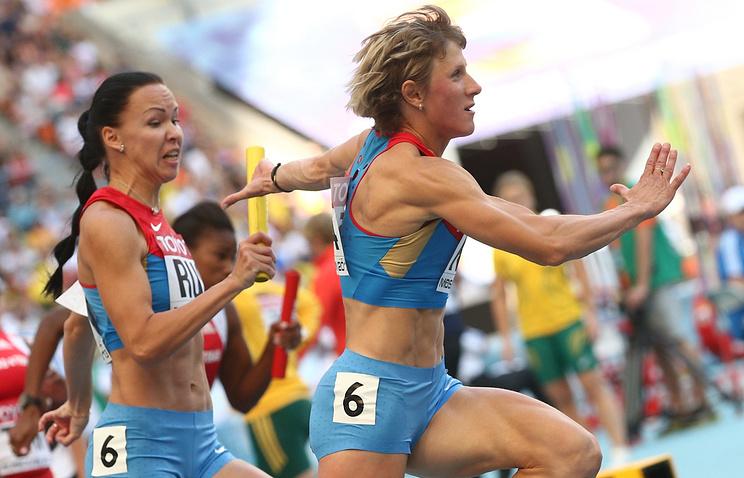 Российские спортсменки Елизавета Савлинис и Елена Болсун
