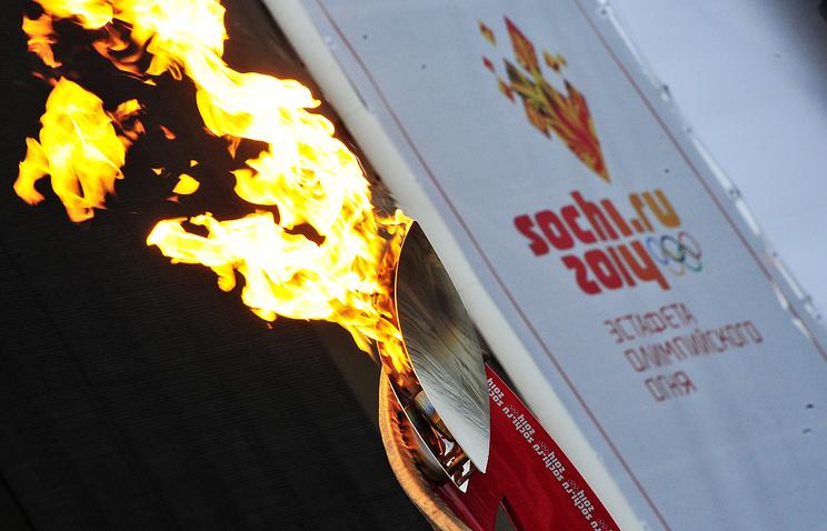 Во время эстафеты Олимпийского огня