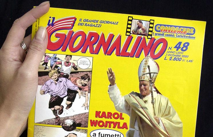 Комиксы с Папой Римским, 2000 AP Photo/Massimo Sambucetti