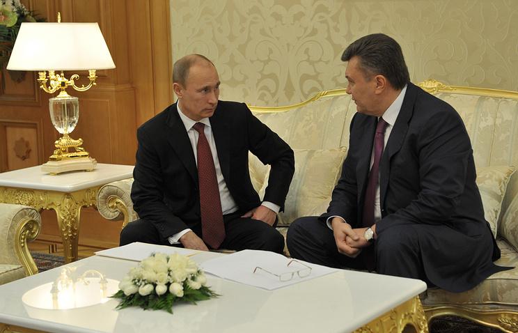 Президент России Владимир Путин и президент Украины Виктор Янукович