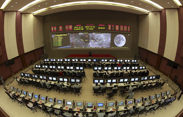 "Центр управления полетами Китая во время посадки ""Чанъэ-3"" на Луне"