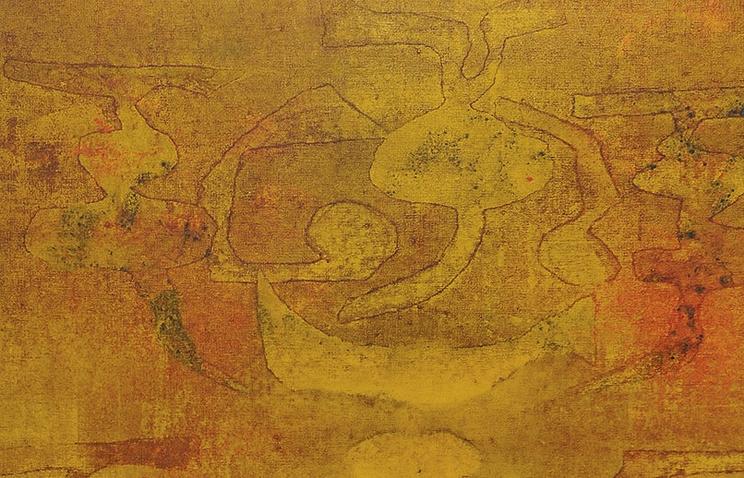 Картина без названия в стиле абстракционизм индийского художника Васудео Гаутонде