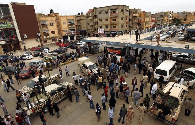Ситуация в Бенгази, куда привозят пострадавших в результате теракта