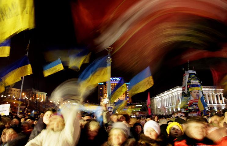 Акции в поддержку евроинтеграции Украины в Киеве
