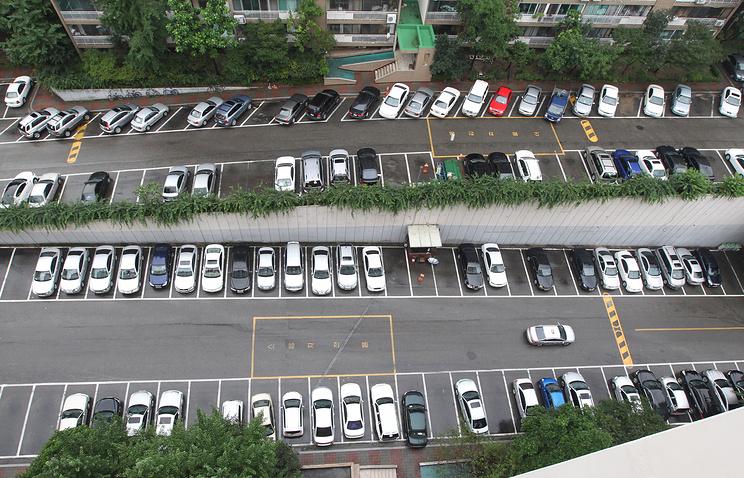 Вид на одну из улиц Сеула