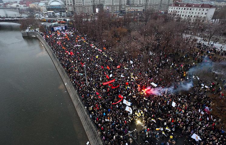 Митинг на Болотной площади в декабре 2011 года