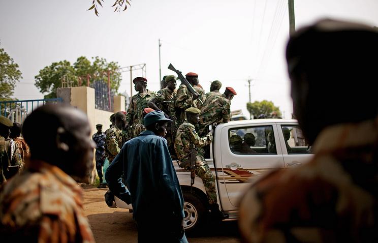 Полицейские и армия Южного Судана