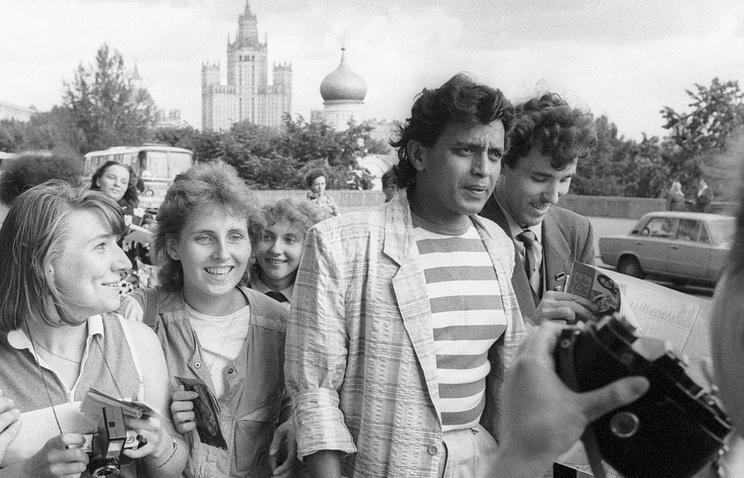 Митхун Чакраборти в Москве, 1987