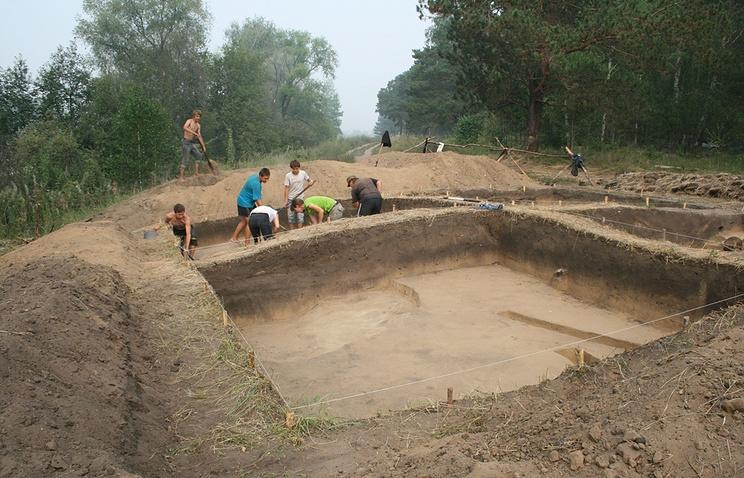 Раскопки на территории Кудряшовского бора