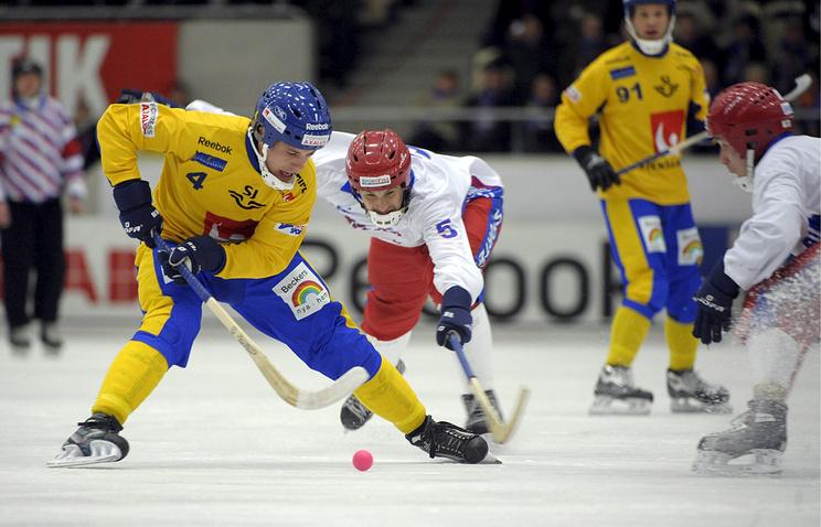 Матч между сборными Швеции и России