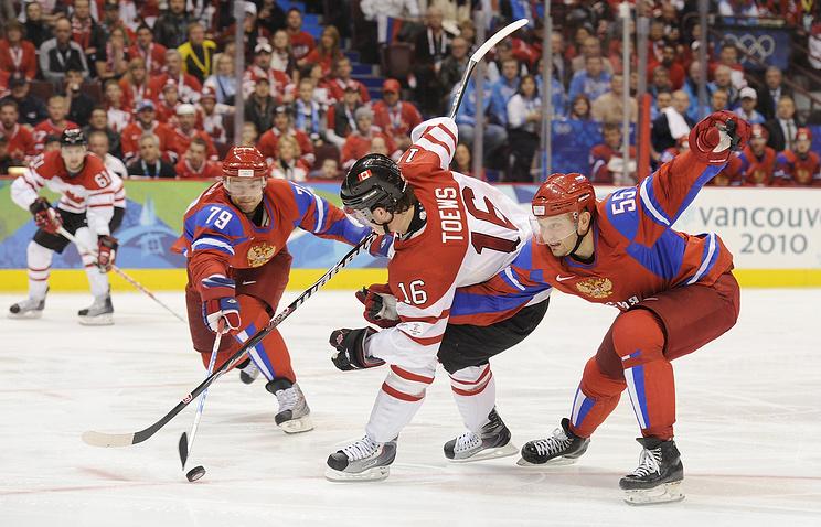 Матч между сборными России и Канады на Играх-2010