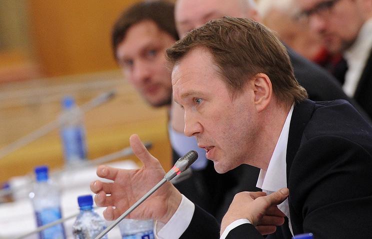 Евгений Миронов на заседании президиума совета при президенте РФ по культуре и искусству
