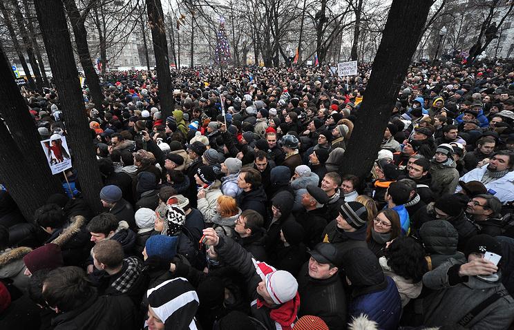 Во время митинга на Болотной площади