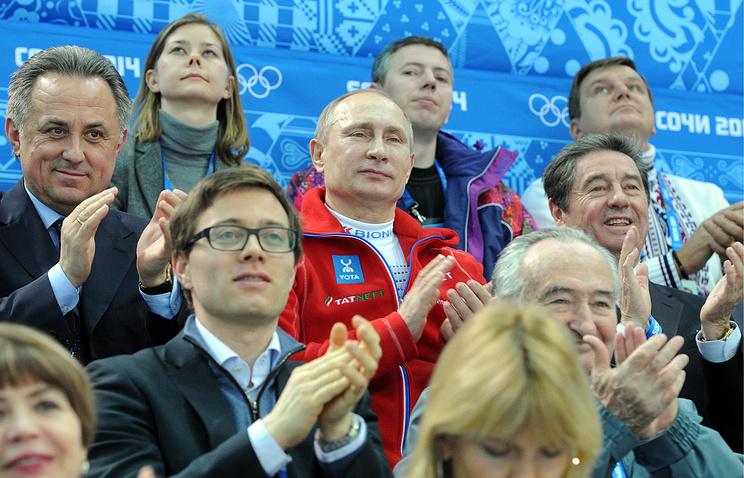 Президент России Владимир Путин посетил соревнования по фигурному катанию в Сочи