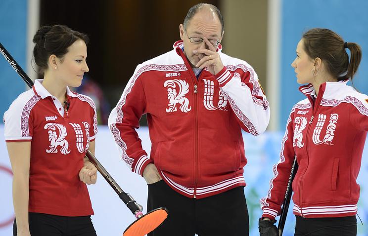 Тренер женской сборной России по керлингу Томас Липс