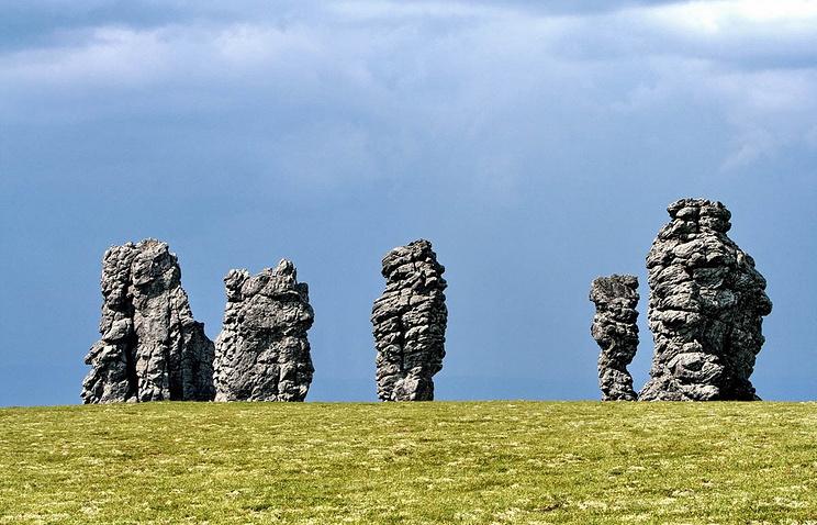 Столбы выветривания Мань-Пупунёр в Республике Коми