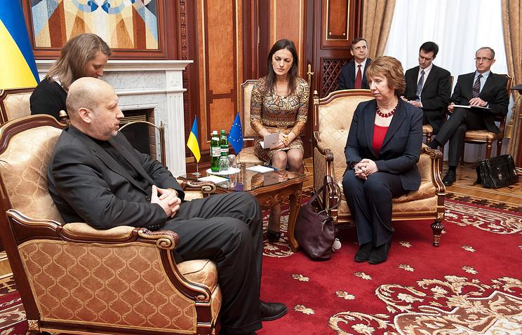 Встреча Кэтрин Эштон с председателем парламента Александром Турчиновым. Киев, 24 февраля