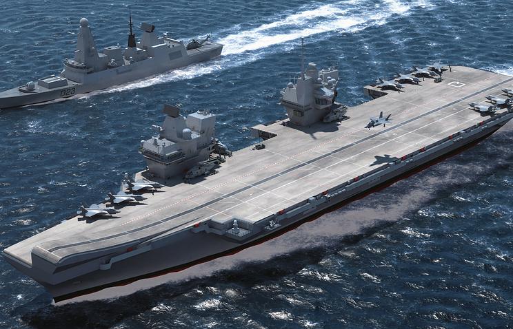 HMS Queen Elizabeth (компьютерное моделирование), изображение предоставлено Минобороны Великобритании