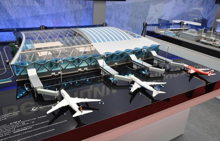 Макет нового терминала аэропорта Емельяново