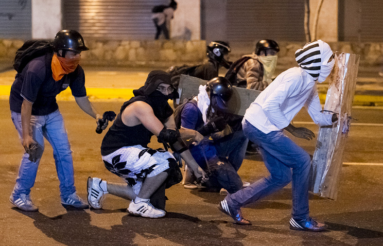 Во время беспорядков в Венесуэле