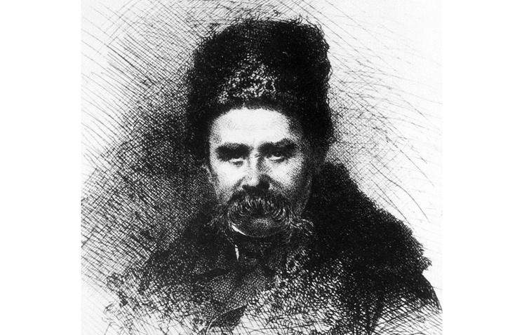 Автопортрет украинского поэта Тараса Шевченко. 1860 год