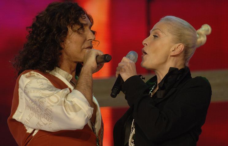 Певцы Валерий Леонтьев и Лайма Вайкуле