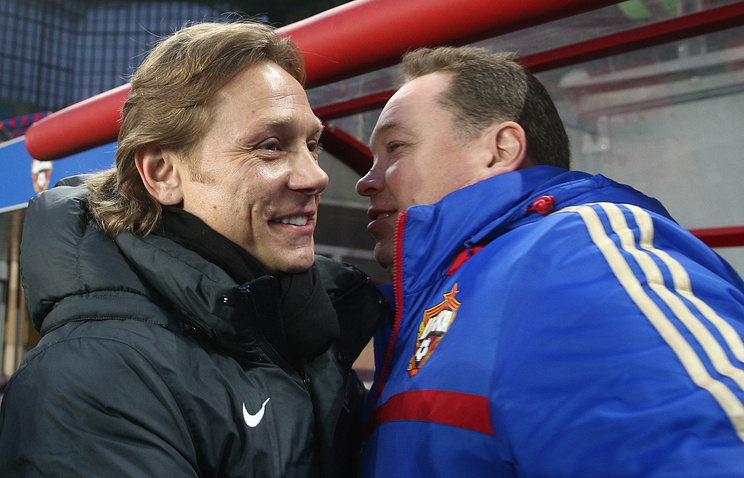 Валерий Карпин и Леонид Слуцкий