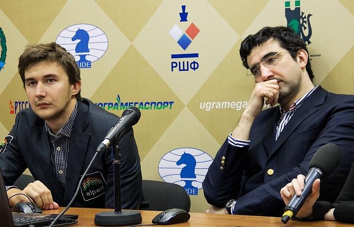 Сергей Карякин и Владимир Крамник