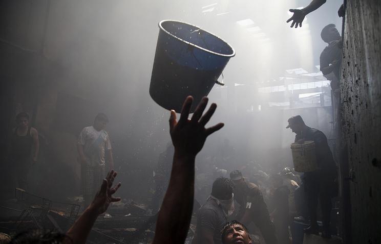 Пожар на рынке в столице Гватемалы