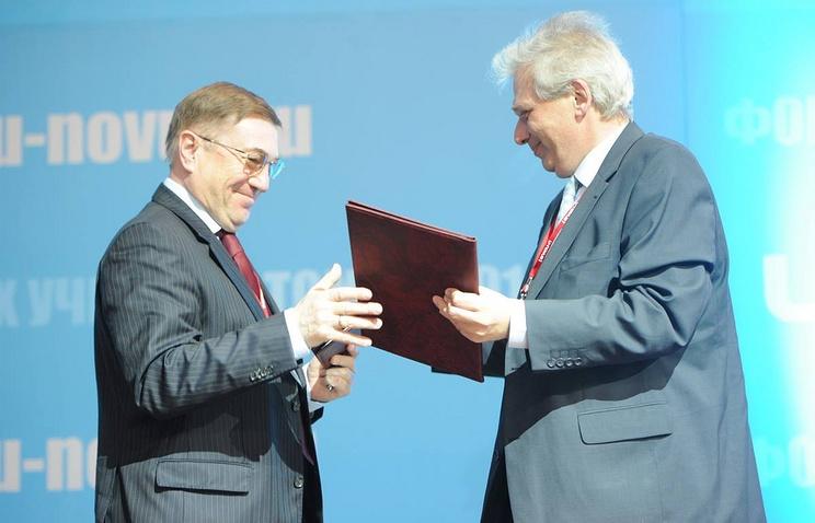 Вице-губернатор Александр Феденев и генеральный директор ОАО «РВК» Игорь Агамирзян (слева направо)
