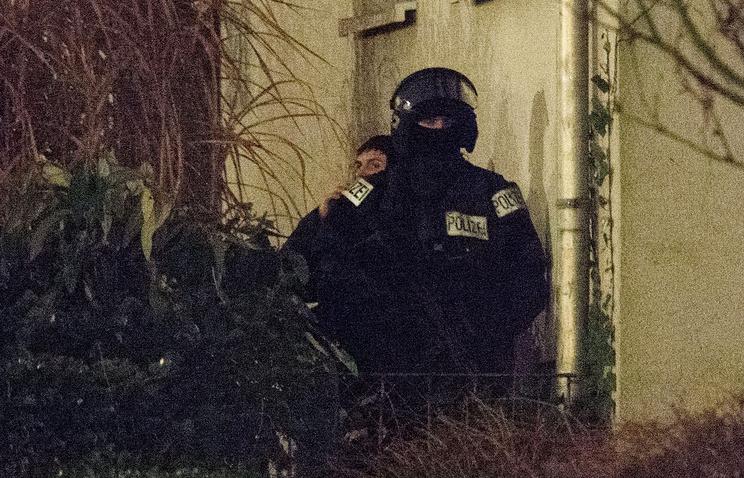 Полицейские во Франкфурте-на-Майне