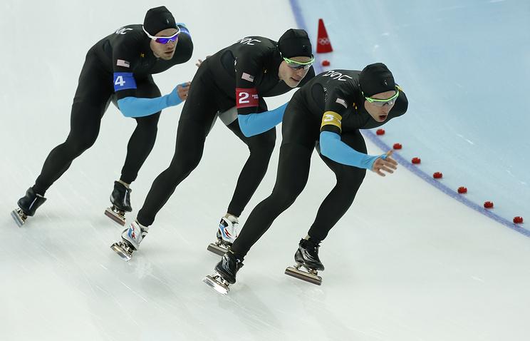 Американские конькобежцы на Олимпиаде в Сочи