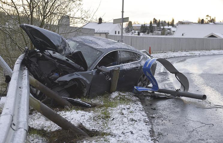 Автомобиль Нортуга после аварии