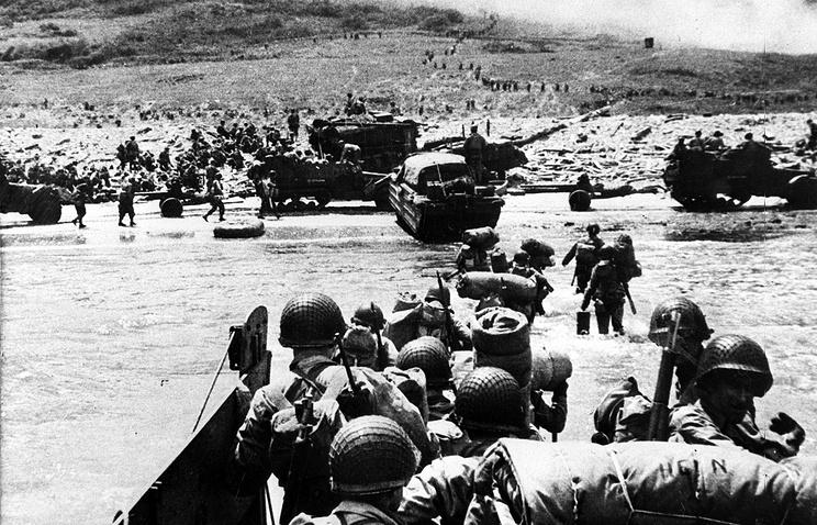 Высадка войск союзников в Нормандии. 1944 год