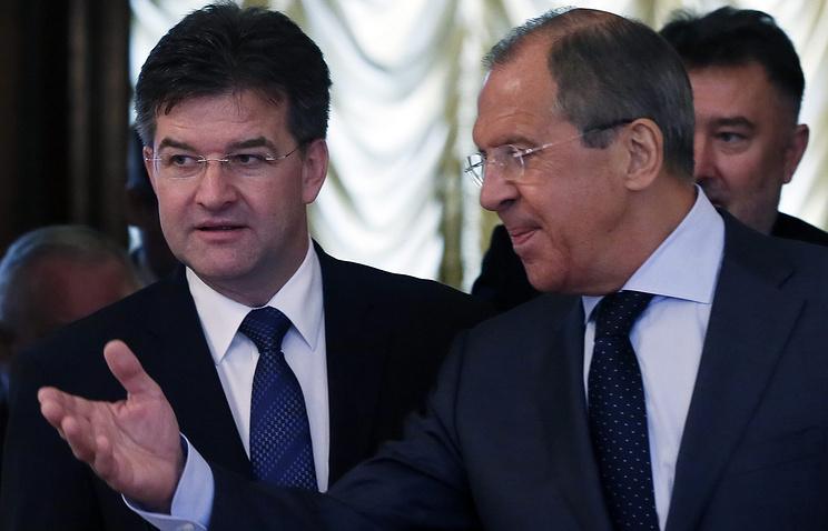 Мирослав Лайчак и Сергей Лавров