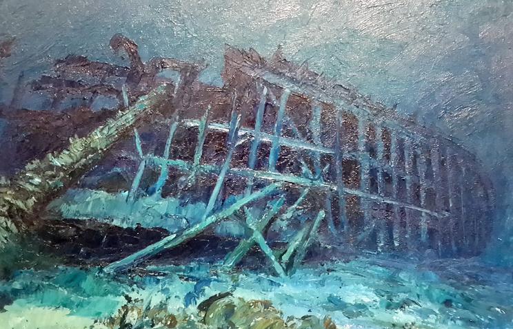 Остов затонувшего корабля. Андре Лабан