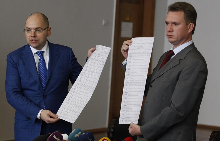 Напечатанные бюллетени в Киеве для досрочных выборов президента Украины