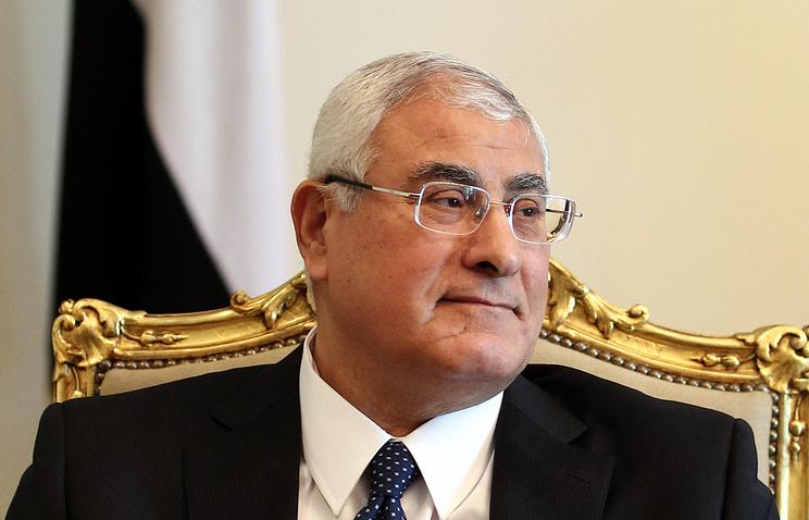 Шестой президент Египта - Адли Мансур
