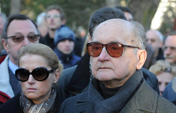 Войцех Ярузельский и его дочь Моника. 2008 год
