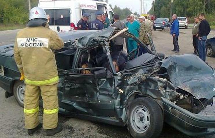 Авария на трассе Челябинск-Новосибирск