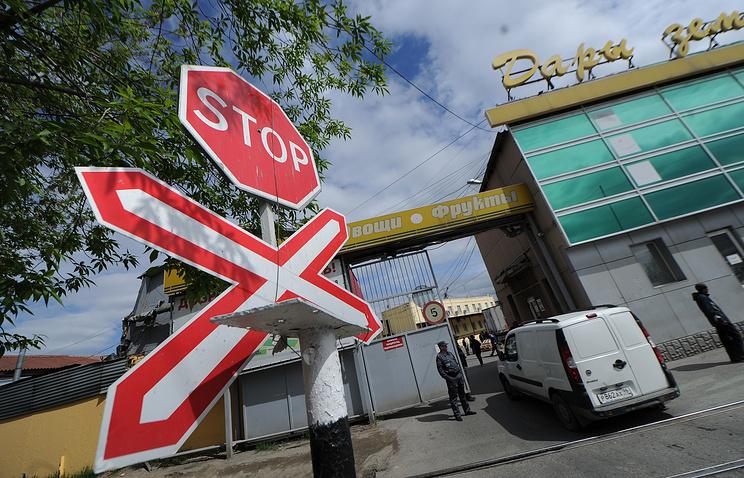 Овощебаза №4 в Екатеринбурге во время обысков