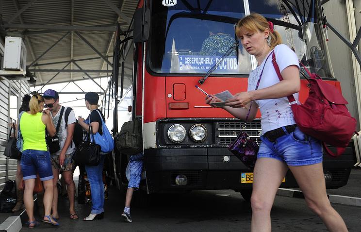 Беженцы на границе России и Украины