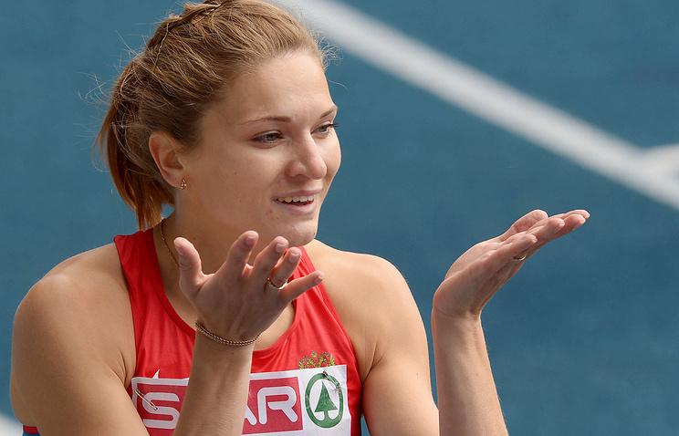 Российская бегунья Алена Тамкова, победившая на дистанции 400 м